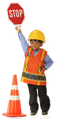 boy playing DOT worker